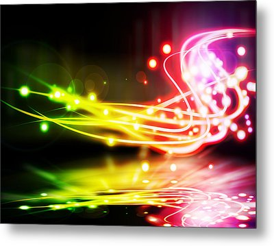 Dancing Lights Metal Print by Setsiri Silapasuwanchai