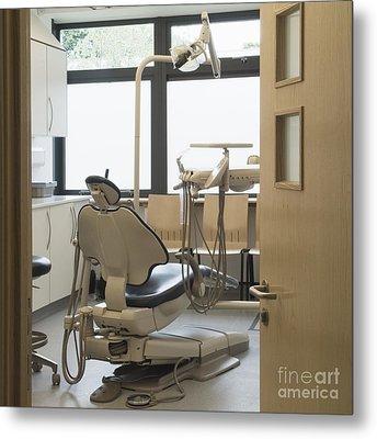 Dentist Chair Metal Print by Iain Sarjeant