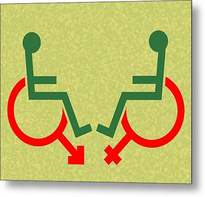 Disability Sexuality, Conceptual Artwork Metal Print by Stephen Wood
