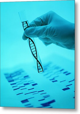 Dna Research Metal Print by Lawrence Lawry