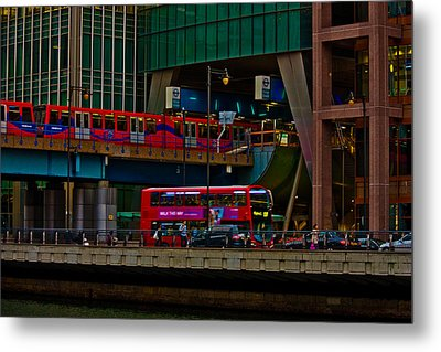 Docklands London Metal Print by Dawn OConnor