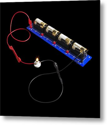 Electrical Circuit Metal Print by