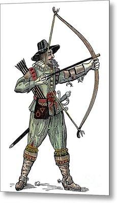 English Archer, 1634 Metal Print by Granger