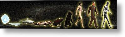 Evolution Of Man Metal Print by Christian Darkin