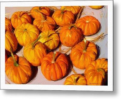 Fall Pumpkins Metal Print by RG McMahon