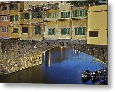 Florence - Ponte Vecchio Metal Print by Joana Kruse