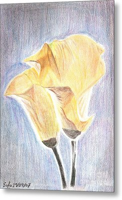 Flowers Metal Print by Safa Al-Rubaye
