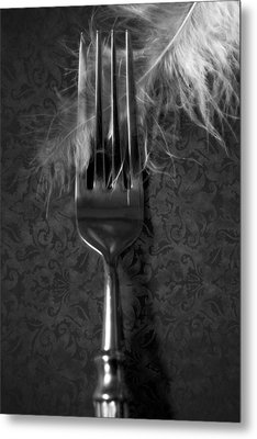 Fork And Feather Metal Print by Joana Kruse