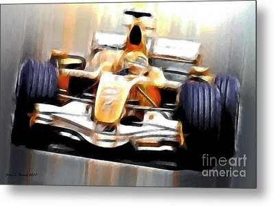 Formula One Metal Print by Jerry L Barrett