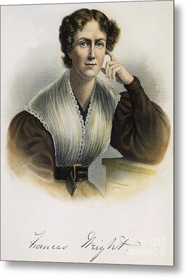 Frances Wright (1795-1852) Metal Print by Granger
