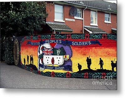 Freedom Corner Mural Belfast Metal Print by Thomas R Fletcher