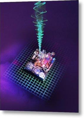 Future Computing, Conceptual Image Metal Print by Richard Kail