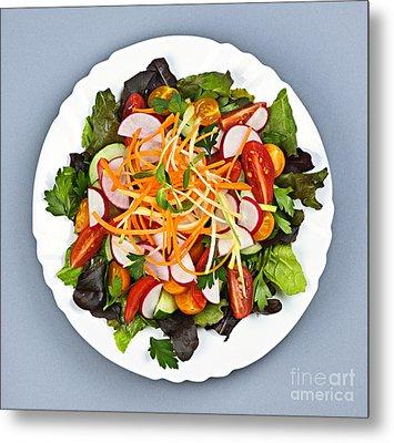 Garden Salad Metal Print by Elena Elisseeva