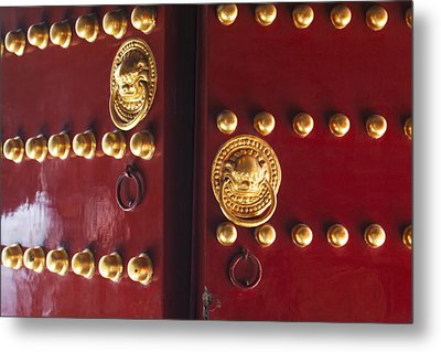 Gate To Temple Of Heaven Metal Print by George Oze
