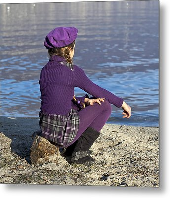 Girl At A Lake Metal Print by Joana Kruse