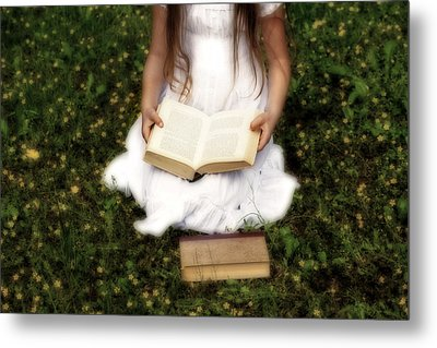 Girl Is Reading A Book Metal Print by Joana Kruse