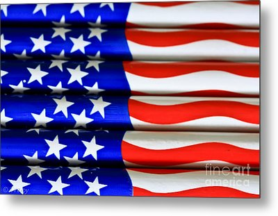Happy 4th Metal Print by Tracy  Hall