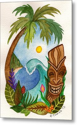 Hawaiian Vignette Metal Print by Heather Torres