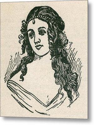 Helen Jewett 1813-1836 Was An New York Metal Print by Everett