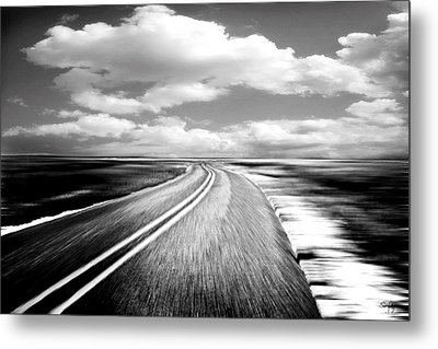 Highway Run Metal Print by Scott Pellegrin