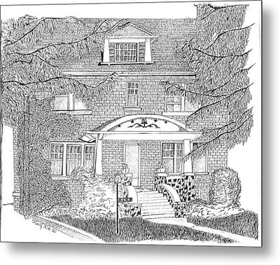 House / Home Rendering Metal Print by Marty Rice
