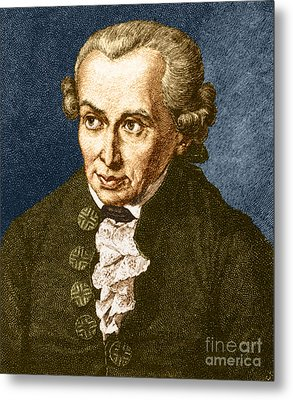 Immanuel Kant, German Philosopher Metal Print by Photo Researchers