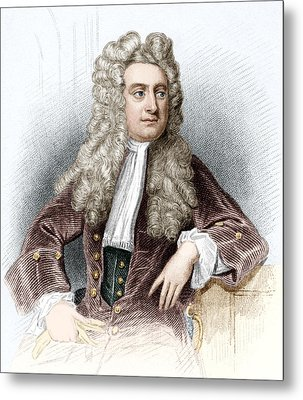 Isaac Newton, English Physicist Metal Print by Sheila Terry