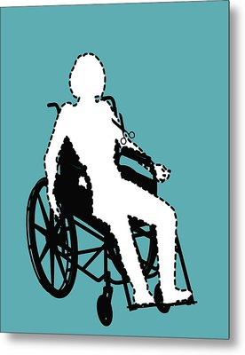 Isolation Through Disability, Artwork Metal Print by Stephen Wood
