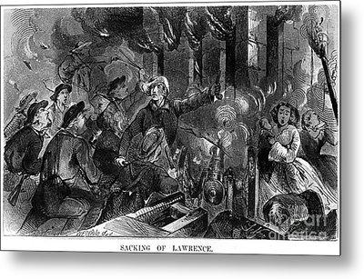 Kansas: Lawrence, 1856 Metal Print by Granger