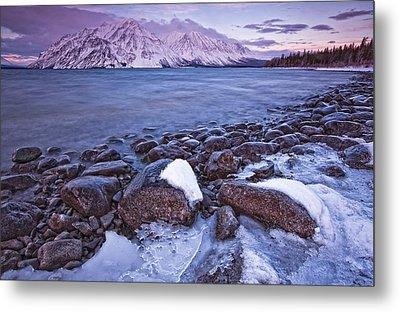 Kathleen Lake At Sunrise, Kluane Metal Print by Robert Postma