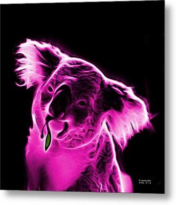Koala Pop Art - Magenta Metal Print by James Ahn