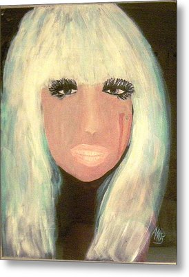 Lady Gaga Metal Print by Marie Bulger