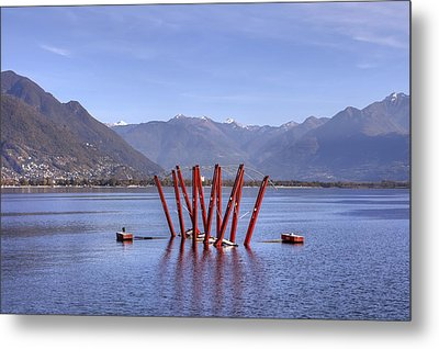 Lake Maggiore Locarno Metal Print by Joana Kruse