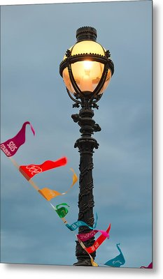 Lamp Light Metal Print by Shirley Mitchell