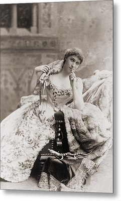 Lillie Langtry 1853-1929, English Metal Print by Everett