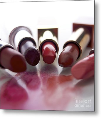 Lipsticks Metal Print by Bernard Jaubert