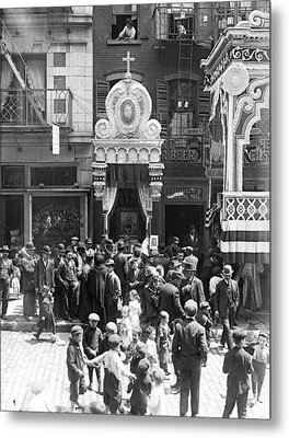 Little Italy, Street Altar To Our Lady Metal Print by Everett