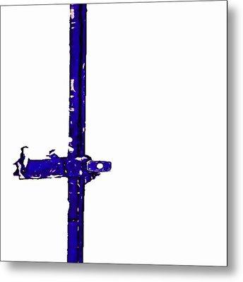 Long Lock In Blue Metal Print by J erik Leiff
