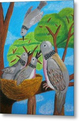 Love And Dove Metal Print by Adam Wai Hou