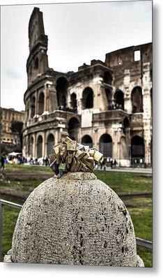 love locks in Rome Metal Print by Joana Kruse