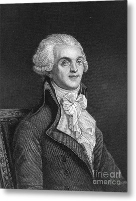 Maximilien Robespierre Metal Print by Granger