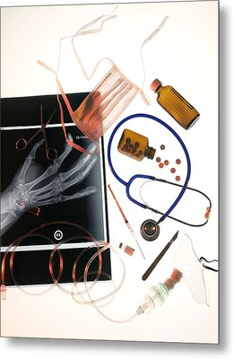Medical Treatment, Conceptual Image Metal Print by Tek Image