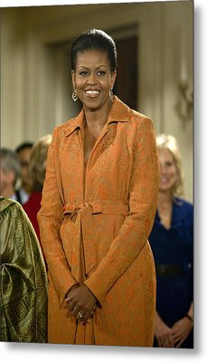 Michelle Obama At A Public Appearance Metal Print by Everett