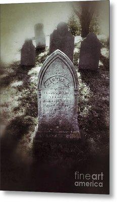 Misty Graveyard Metal Print by Jill Battaglia