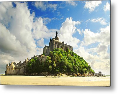Mont Saint Michel Metal Print by Elena Elisseeva