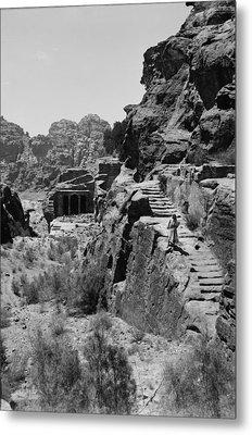 Mount Sinai, Trans-jordan. Petra Metal Print by Everett