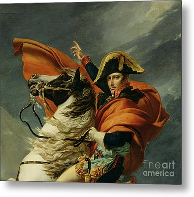 Napoleon Crossing The Alps On 20th May 1800 Metal Print by Jacques Louis David