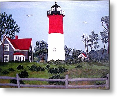 Nauset Lighthouse Painting Metal Print by Frederic Kohli
