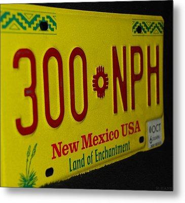 New Mexico Tag Metal Print by Rob Hans