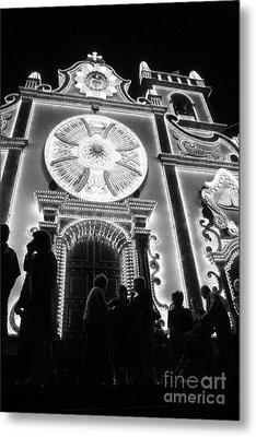 Nighttime Religious Celebrations Metal Print by Gaspar Avila